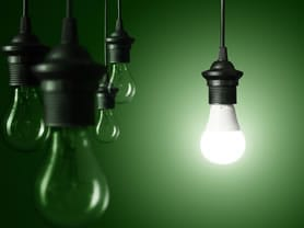 Lightbulb switched on Push-Pull Supply Chain Idea Strategy